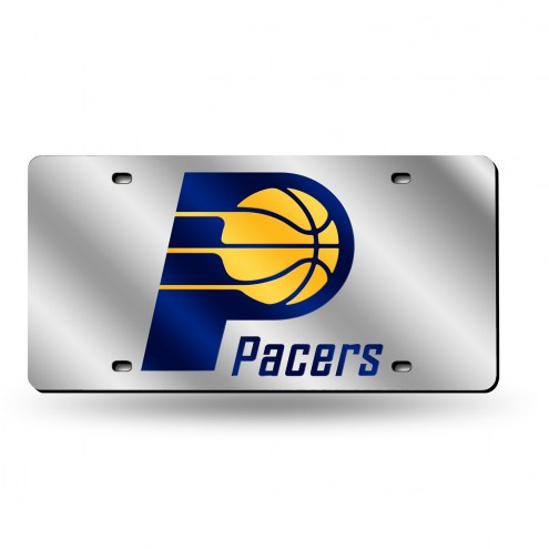 Indiana Pacers Silver Laser License Plate