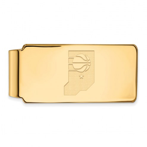 Indiana Pacers Sterling Silver Gold Plated Money Clip