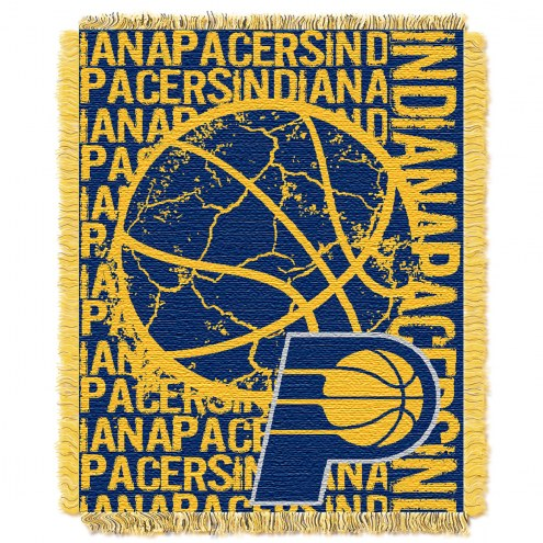 Indiana Pacers Woven Jacquard Throw Blanket