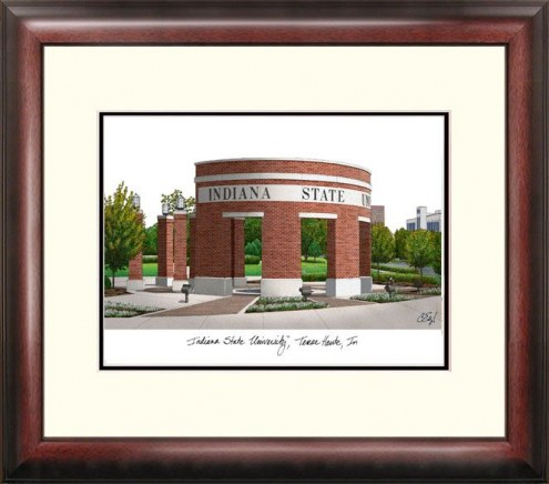 Indiana State Sycamores Alumnus Framed Lithograph