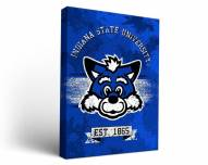 Indiana State Sycamores Banner Canvas Wall Art