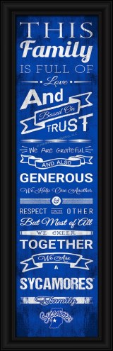 Indiana State Sycamores Family Cheer Framed Art