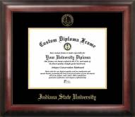Indiana State Sycamores Gold Embossed Diploma Frame