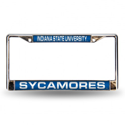 Indiana State Sycamores Laser Chrome License Plate Frame
