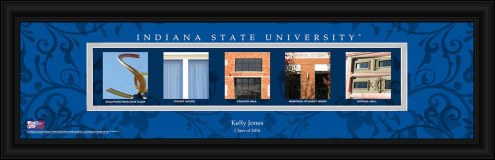 Indiana State Sycamores Personalized Campus Letter Art