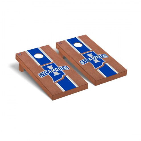 Indiana State Sycamores Rosewood Stained Cornhole Game Set