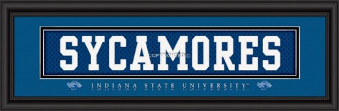 """Indiana State Sycamores """"Sycamores"""" Stitched Jersey Framed Print"""