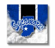 Indiana State Sycamores Vintage Canvas Wall Art