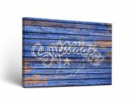 Indiana State Sycamores Weathered Canvas Wall Art
