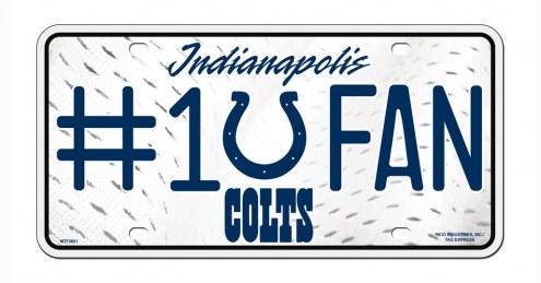 Indianapolis Colts #1 Fan License Plate