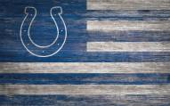 """Indianapolis Colts 11"""" x 19"""" Distressed Flag Sign"""