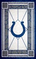 """Indianapolis Colts 11"""" x 19"""" Stained Glass Sign"""