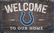 """Indianapolis Colts 11"""" x 19"""" Welcome to Our Home Sign"""