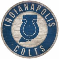 """Indianapolis Colts 12"""" Circle with State Sign"""