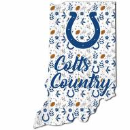 """Indianapolis Colts 12"""" Floral State Sign"""