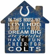 """Indianapolis Colts 12"""" House Sign"""