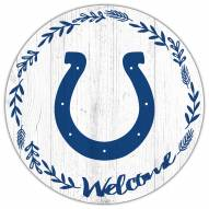 """Indianapolis Colts 12"""" Welcome Circle Sign"""