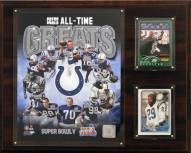 """Indianapolis Colts 12"""" x 15"""" All-Time Great Plaque"""