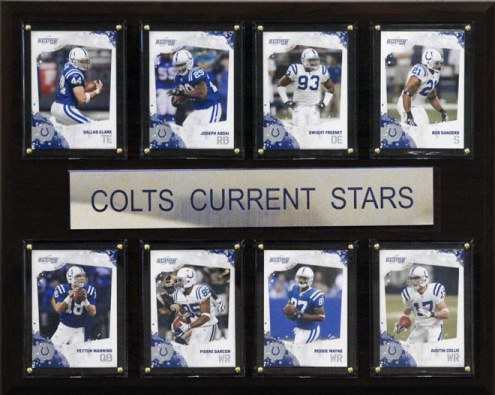 """Indianapolis Colts 12"""" x 15"""" Current Stars Plaque"""