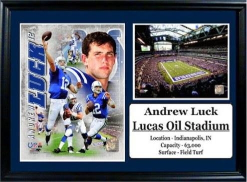 "Indianapolis Colts 12"" x 18"" Andrew Luck Photo Stat Frame"