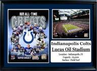 """Indianapolis Colts 12"""" x 18"""" Greats Photo Stat Frame"""