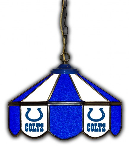 "Indianapolis Colts 14"" Glass Pub Lamp"