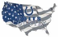"Indianapolis Colts 15"" USA Flag Cutout Sign"