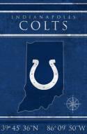 "Indianapolis Colts 17"" x 26"" Coordinates Sign"