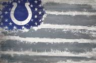 """Indianapolis Colts 17"""" x 26"""" Flag Sign"""