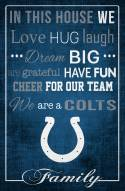 """Indianapolis Colts 17"""" x 26"""" In This House Sign"""