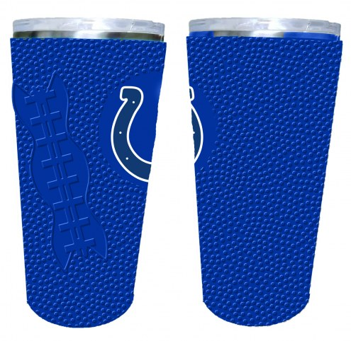 Indianapolis Colts 20 oz. Stainless Steel Tumbler with Silicone Wrap