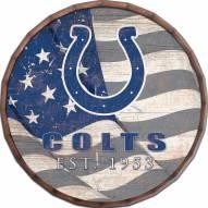 """Indianapolis Colts 24"""" Flag Barrel Top"""