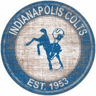 """Indianapolis Colts 24"""" Heritage Logo Round Sign"""