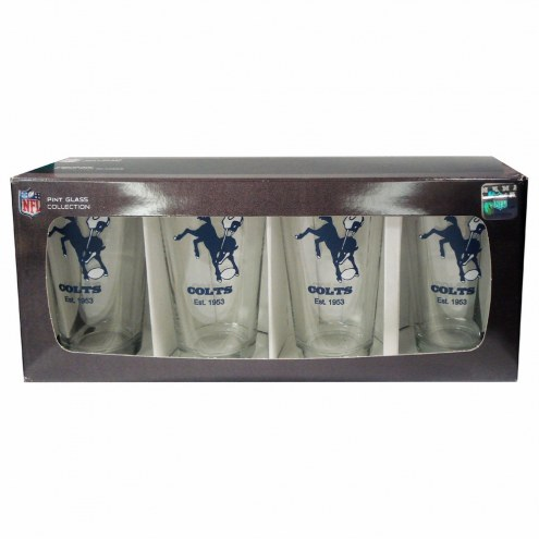 Indianapolis Colts 4 Pack Pint Glass Set