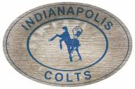 """Indianapolis Colts 46"""" Heritage Logo Oval Sign"""