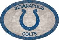 """Indianapolis Colts 46"""" Team Color Oval Sign"""