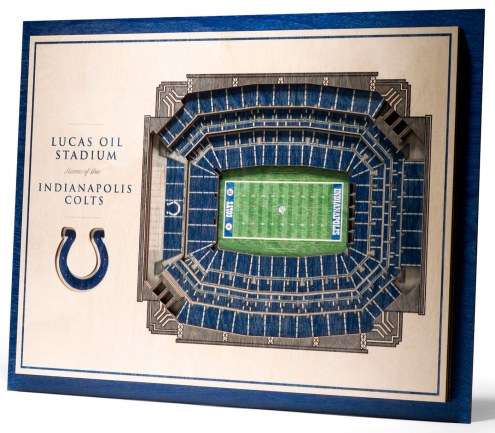 Indianapolis Colts 5-Layer StadiumViews 3D Wall Art