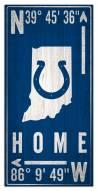 "Indianapolis Colts 6"" x 12"" Coordinates Sign"