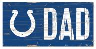 """Indianapolis Colts 6"""" x 12"""" Dad Sign"""
