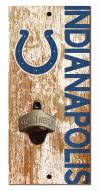 """Indianapolis Colts 6"""" x 12"""" Distressed Bottle Opener"""