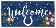 """Indianapolis Colts 6"""" x 12"""" Floral Welcome Sign"""