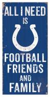 """Indianapolis Colts 6"""" x 12"""" Friends & Family Sign"""