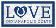 """Indianapolis Colts 6"""" x 12"""" Love Sign"""