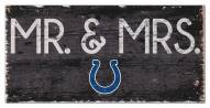 """Indianapolis Colts 6"""" x 12"""" Mr. & Mrs. Sign"""