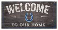 """Indianapolis Colts 6"""" x 12"""" Welcome Sign"""