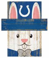 """Indianapolis Colts 6"""" x 5"""" Easter Bunny Head"""
