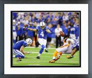 Indianapolis Colts Adam Vinatieri Playoff Action Framed Photo