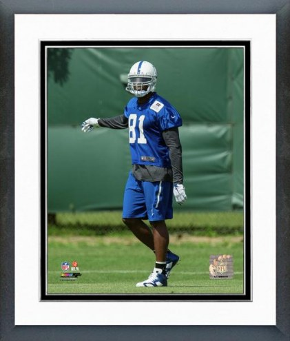 Indianapolis Colts Andre Johnson Mini Camp Action Framed Photo