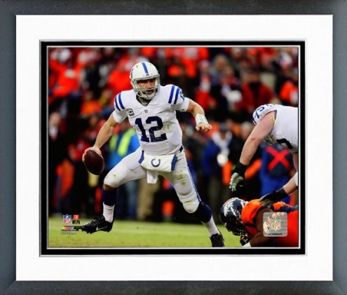 Indianapolis Colts Andrew Luck Playoff Action Framed Photo