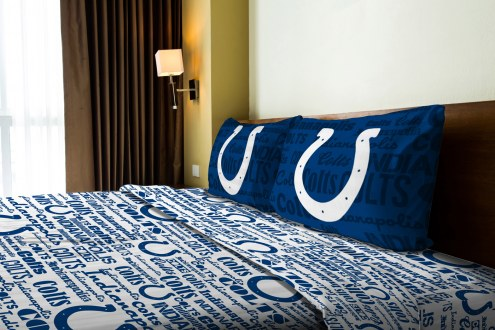 Indianapolis Colts Anthem Full Bed Sheets
